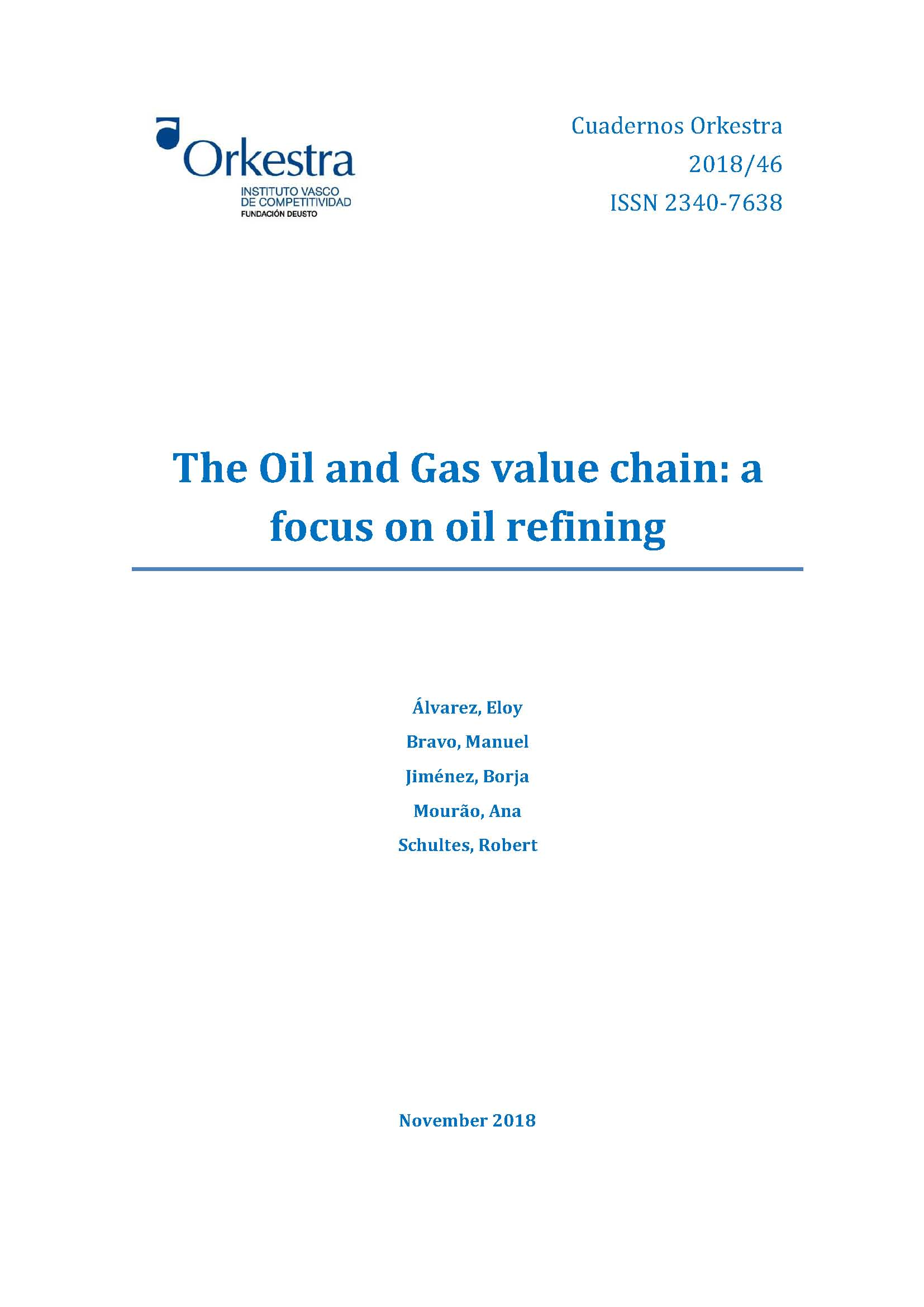 The Oil and Gas value chain: a focus on oil refining