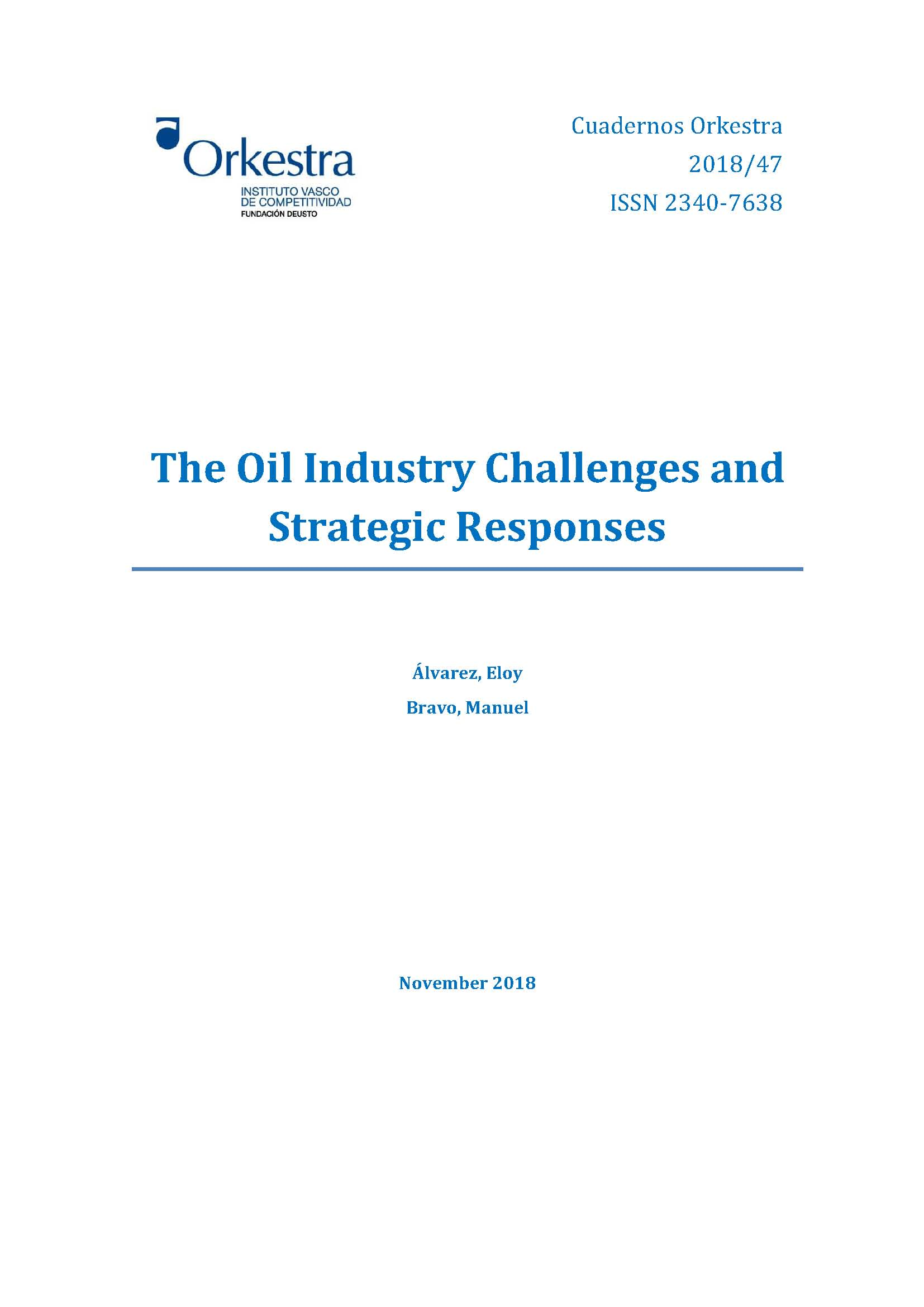 oil industry challenges strategic responses